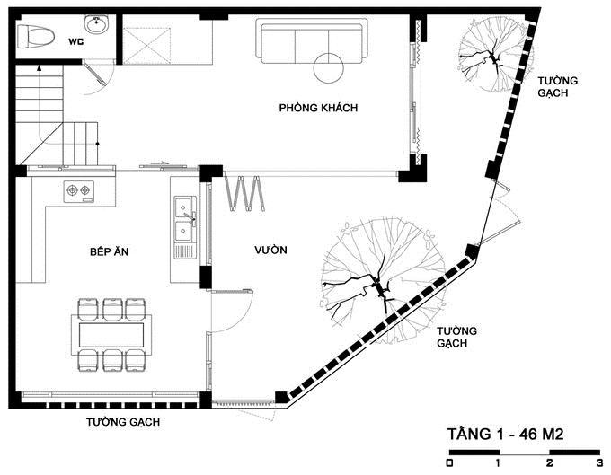 Mẫu nhà 3 tầng độc đáo tại Hải Dương. 1
