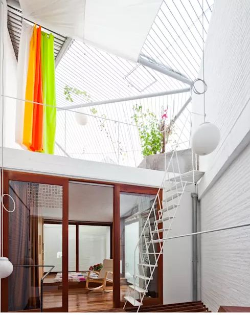 Những lưu ý thiết kế giếng trời cho nhà ống