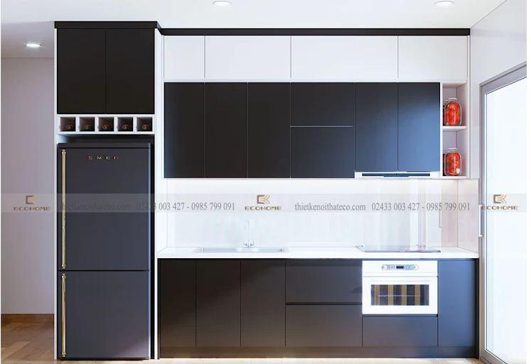 Thiết kế không gian bếp tiện dụng cho nhà ống và biệt thự