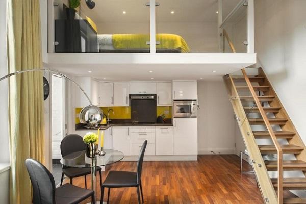 Căn bếp bố trí sát tường - Không gian nhà đẹp