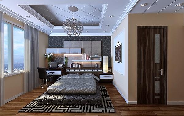 Không gian nhà đẹp phòng ngủ thoáng rộng