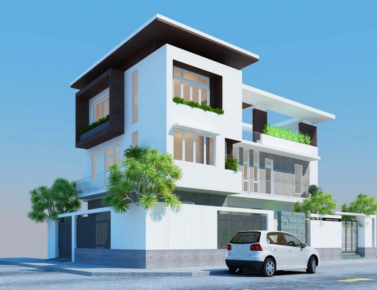 Phối cảnh 3D - Thiết kế biệt thự Ba Đình