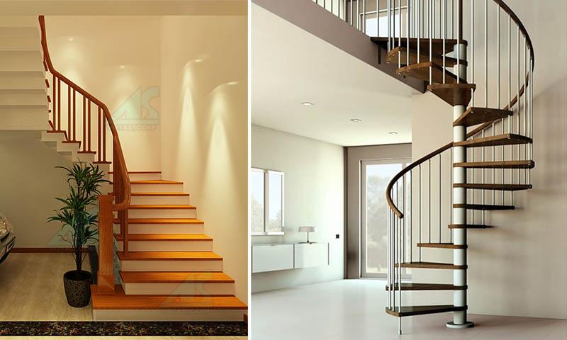 Cầu thang đẹp cho nhà ống