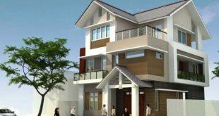 Mẫu thiết kế biệt thự 3 tầng hiện đại - Phối cảnh