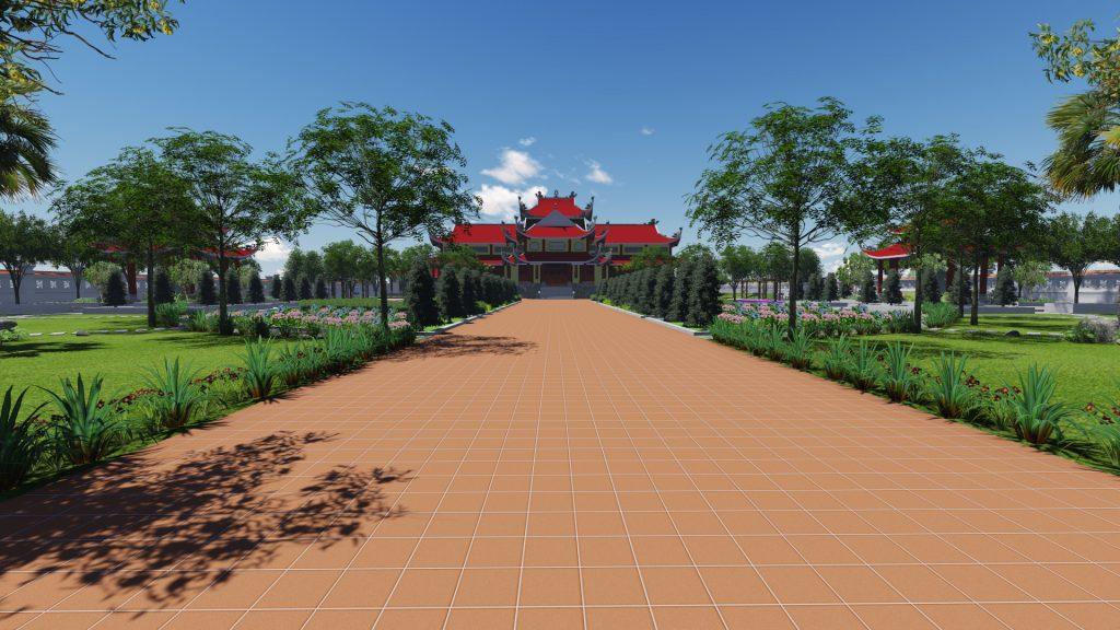 Ngắm nhìn không gian cảnh quan tuyệt đẹp khuôn viên đền thờ 4