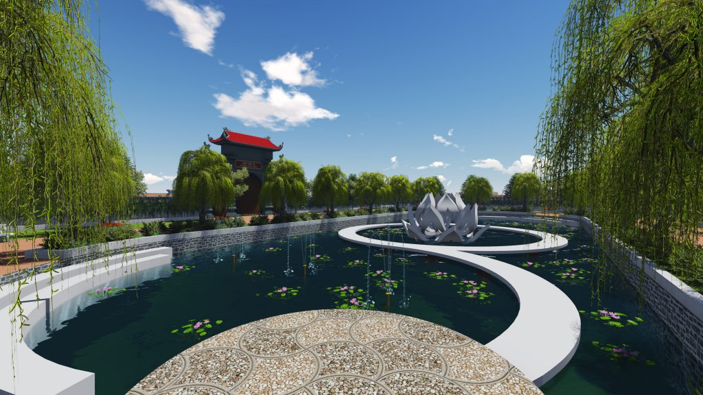 Thiết kế không gian xanh tuyệt đẹp khuôn viên đền thờ 3