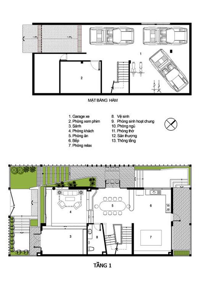 Mẫu thiết kế biệt thự 3 tầng ấn tượng kết hợp cảnh quan sân vườn 2