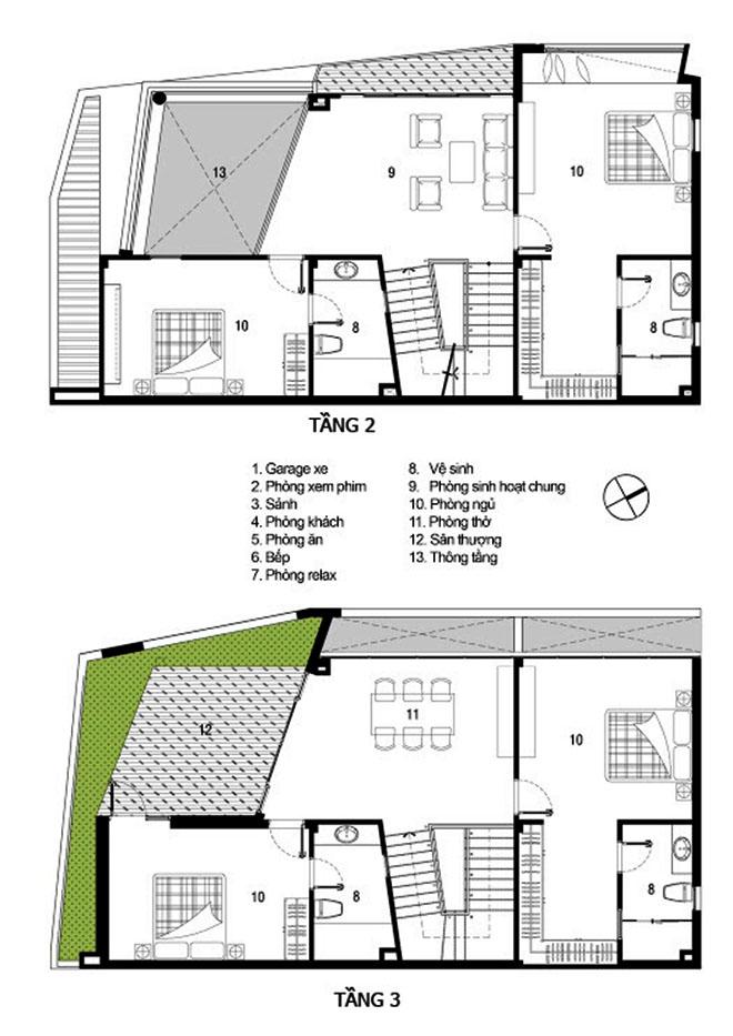 Mẫu thiết kế biệt thự 3 tầng ấn tượng kết hợp cảnh quan sân vườn 3