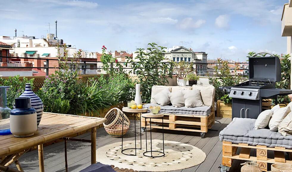 Thiết kế nhà biệt thự - Vườn sân thượng phong cách địa trung hải 1