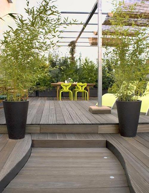Thiết kế nhà biệt thự - Ốc đảo xanh trên vườn sân thượng