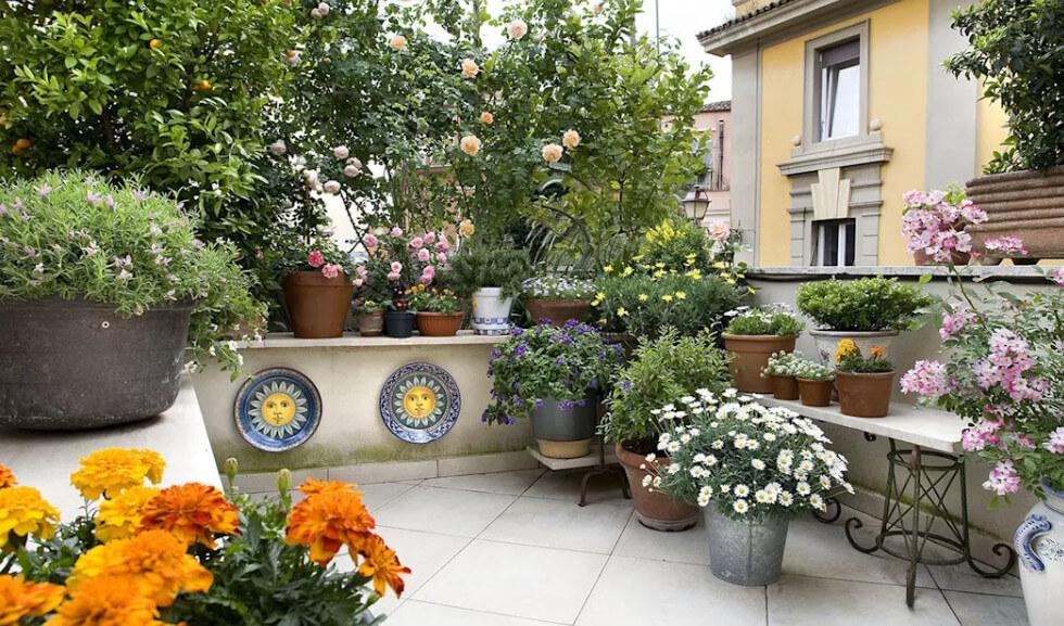 Thiết kế nhà biệt thự - Vườn sân thượng cổ điển Châu Âu 1