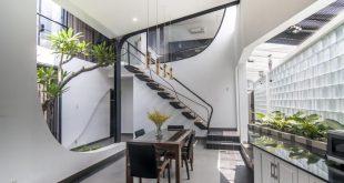 Mặt bằng công năng và vẻ đẹp của mẫu thiết kế kiến trúc nhà phố với không gian xanh - 1