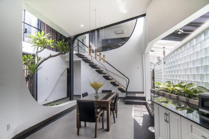 Mặt bằng công năng và vẻ đẹp của mẫu thiết kế kiến trúc nhà phố xanh - 1