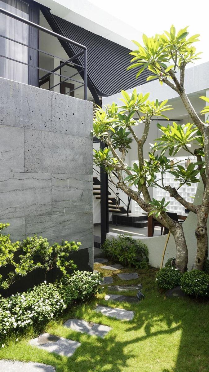 Mặt bằng công năng và vẻ đẹp của mẫu thiết kế kiến trúc nhà phố xanh - 3