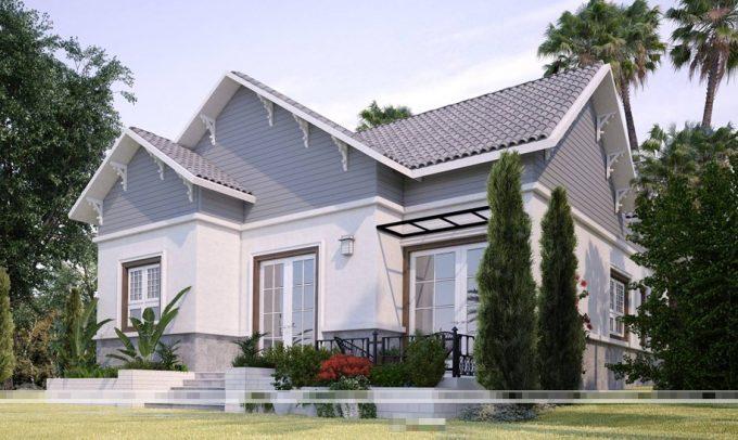 Vẻ đẹp kiến trúc xanh trong mẫu thiết kế nhà vườn đẹp sang trọng - 2