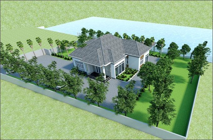 Vẻ đẹp kiến trúc xanh trong thiết kế nhà vườn đẹp - 1
