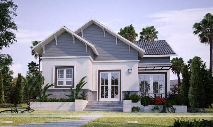 Vẻ đẹp kiến trúc xanh trong mẫu thiết kế nhà vườn đẹp sang trọng - 1