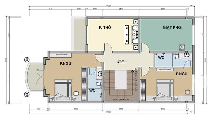 MB2 - Biệt thự 2 tầng tân cổ điển 9x17m