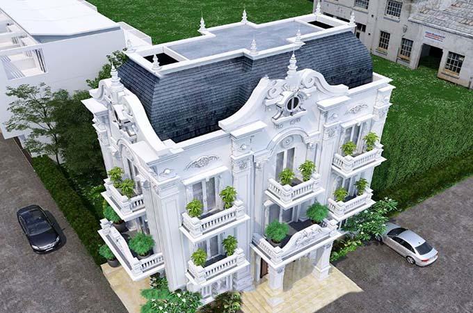 Mái mansard trong kiến trúc biệt thự là gì? Kien-truc-xanh-trong-biet-thu-co-dien-3-tang-2