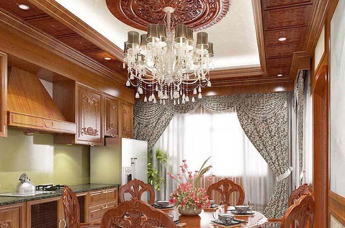 Phòng bếp ăn - Biệt thự cổ điển 3 tầng 2 mặt tiền