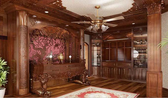 Phòng thờ - Biệt thự cổ điển 3 tầng 2 mặt tiền