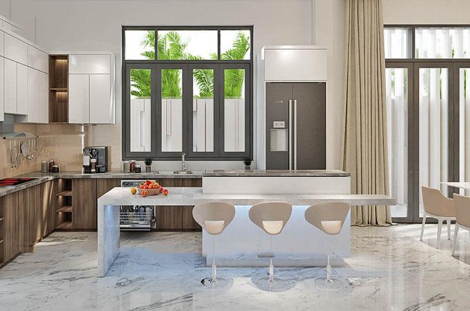Phòng bếp - Biệt thự hiện đại 3 tầng