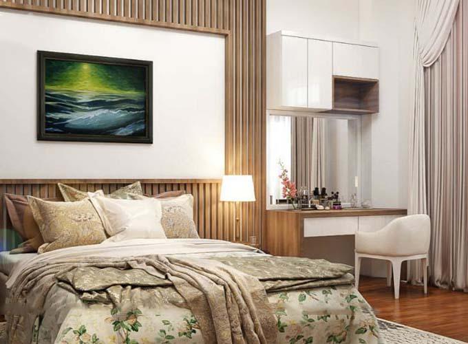 Phòng ngủ - Biệt thự hiện đại 3 tầng