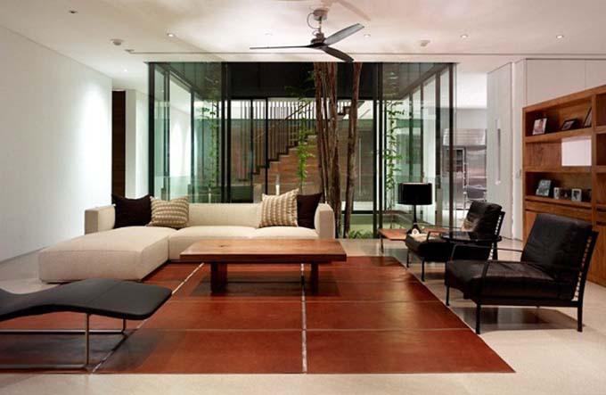 Phòng khách - Nhà biệt thự xanh đẹp 2 tầng hiện đại - 05