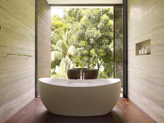 Nhà tắm - Biệt thự xanh 2 tầng đẹp hiện đại - 08