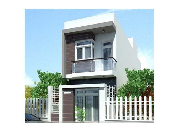 mẫu thiết kế nhà phố 2 tầng giá rẻ