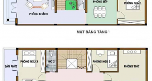 nhà ống 2 tầng 3 phòng ngủ