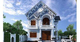 nhà phố 2 tầng mặt tiền 5m phong cách cổ điển