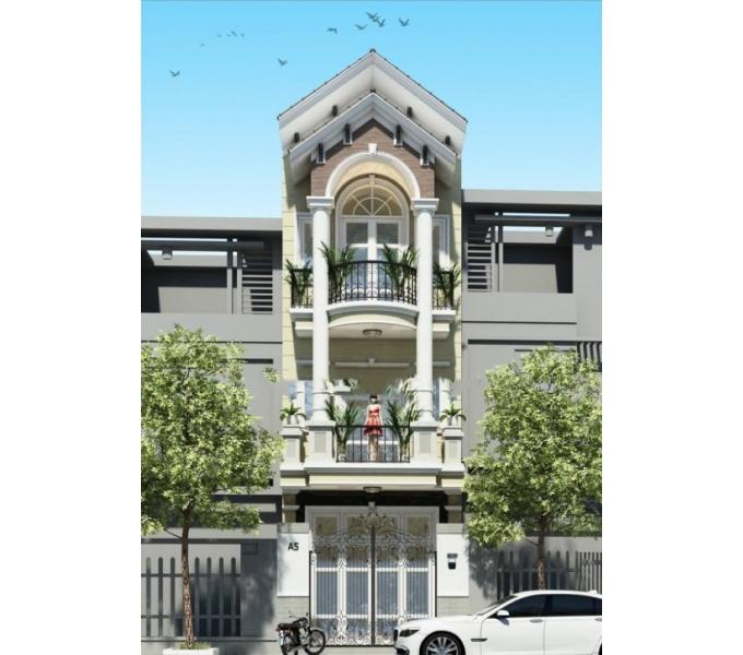 Nhàphố 3 tầng tân cổ điển mái thái