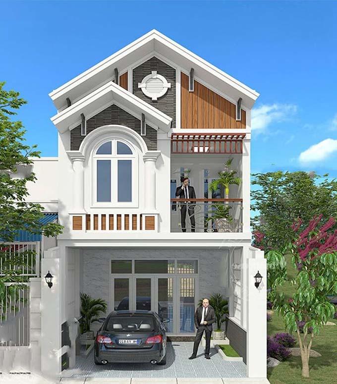 thiết kế nhà phố 2 tầng giá rẻ