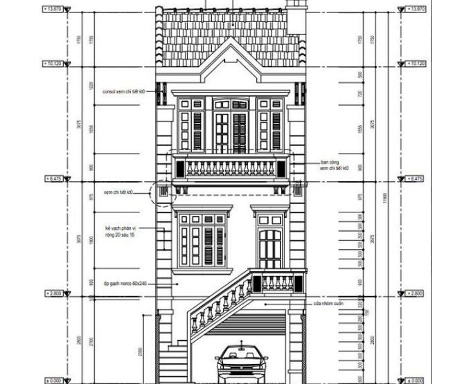 Mặt tiền nhà phố 3 tầng 5x20m