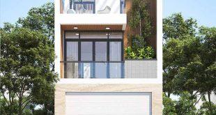 Kiến trúc nhà phố mẫu nhà 3 tầng hiện đại