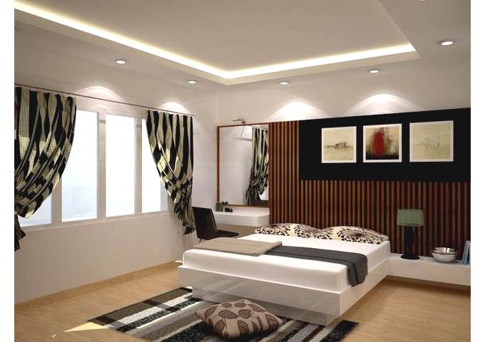 Phòng ngủ hiện đại nhà 3 tầng