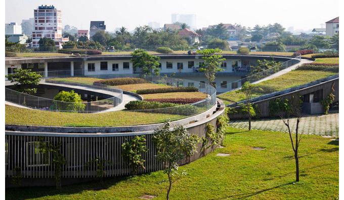 Vườn rau trên mái nhà
