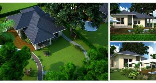 kiến trúc nhà vườn xanh