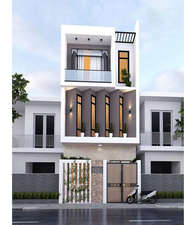 Mặt tiền căn nhà với không gian tối ưu