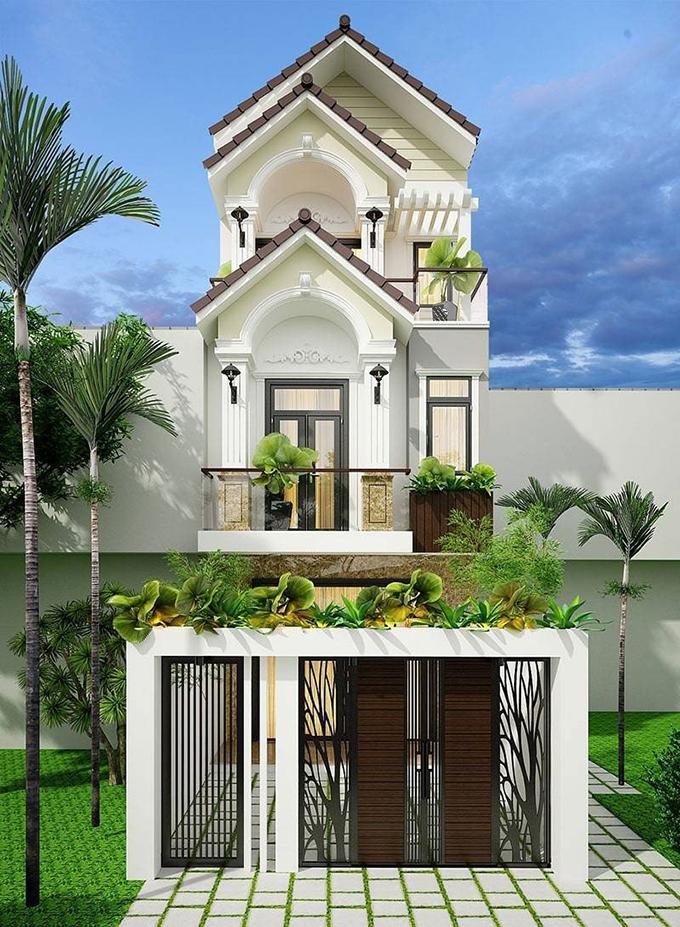 Nhà 3 tầng mái thái đẹp