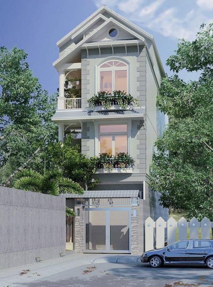 Nhà phố 3 tầng mái thái 2