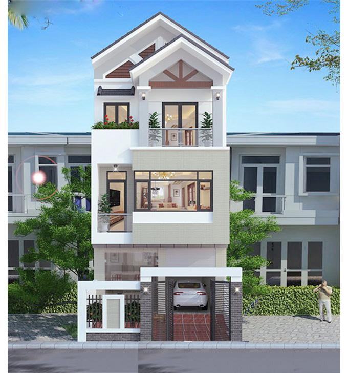 nhà phố 3 tầng mái thái đẹp 4