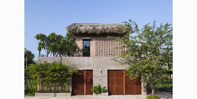 Nhà được thi công từ các vật liệu xanh