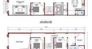 thiết kế nhà phố 2 tầng 4x20m