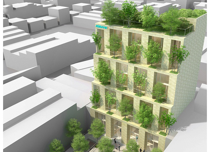 Tòa nhà cây xanh ngay giữa thành phố
